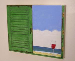 Detail Image for art Beach Hut (Sold)