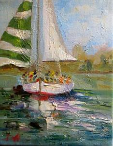 Detail Image for art Christmas Sail Boat