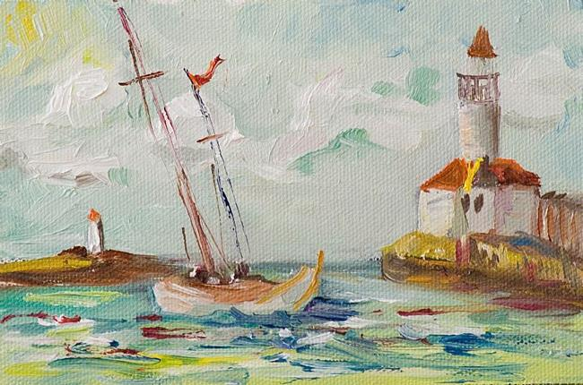 Art: Sails Down-SOLD by Artist Delilah Smith