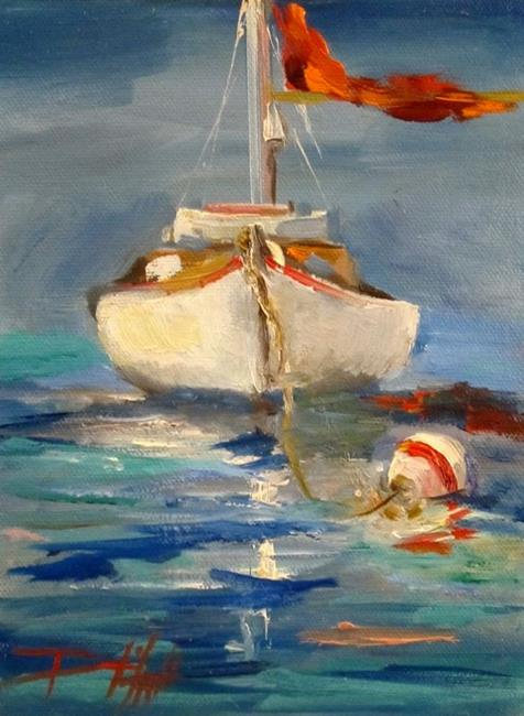Art: Sail Boat and Buoy by Artist Delilah Smith