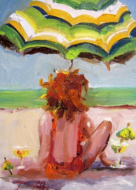 Art: Beach Girl SOLD by Artist Delilah Smith
