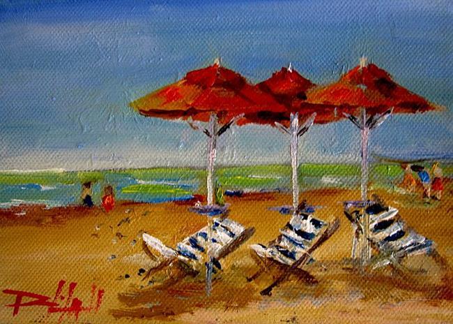 Art: Beach Umbrellas-sold by Artist Delilah Smith
