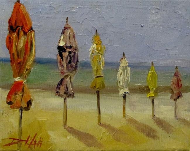 Art: Beach Umbrellas No. 2-SOLD by Artist Delilah Smith