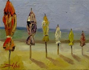 Detail Image for art Beach Umbrellas No. 2-SOLD