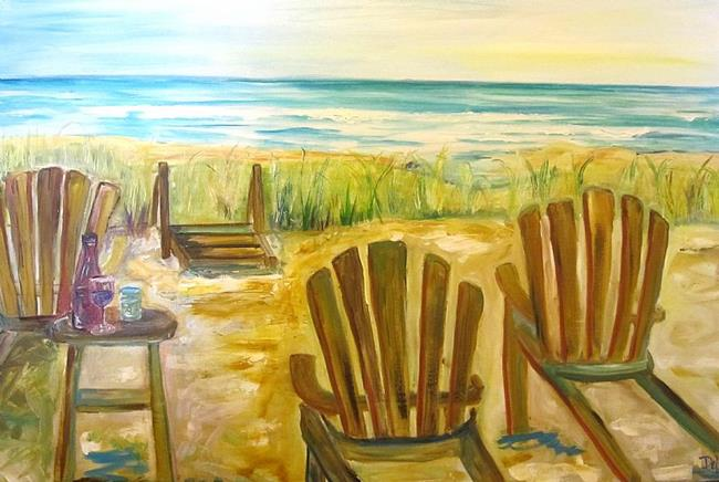 Art: Beach Chairs by Artist Delilah Smith
