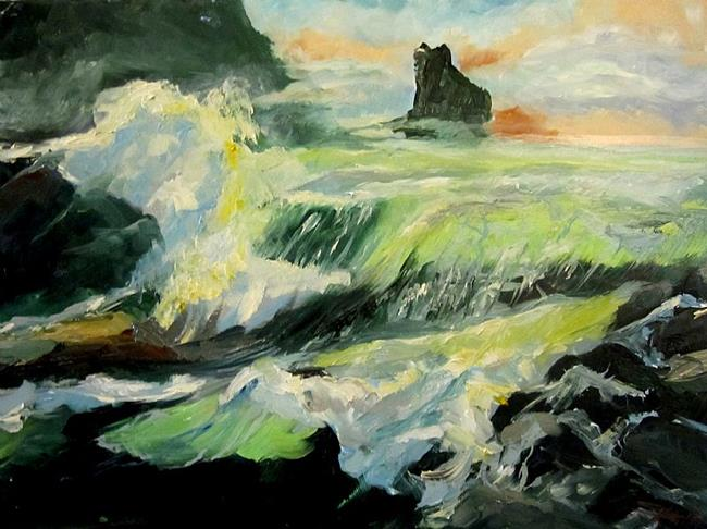 Art: The Breaking Waves by Artist Delilah Smith