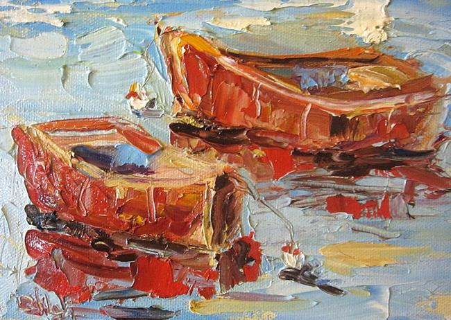 Art: Red Boats by Artist Delilah Smith