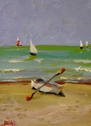 Art: The Beach by Artist Delilah Smith