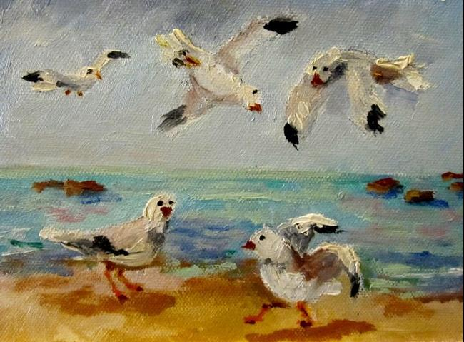 Art: Dance of the Gulls=sold by Artist Delilah Smith