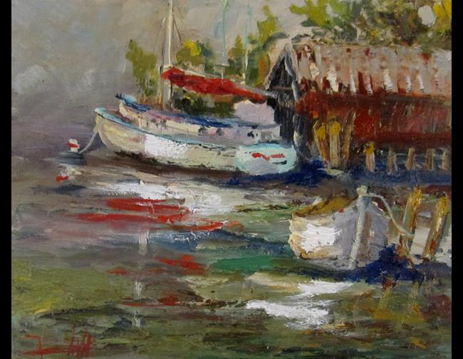 Art: Fishing Boat by Artist Delilah Smith