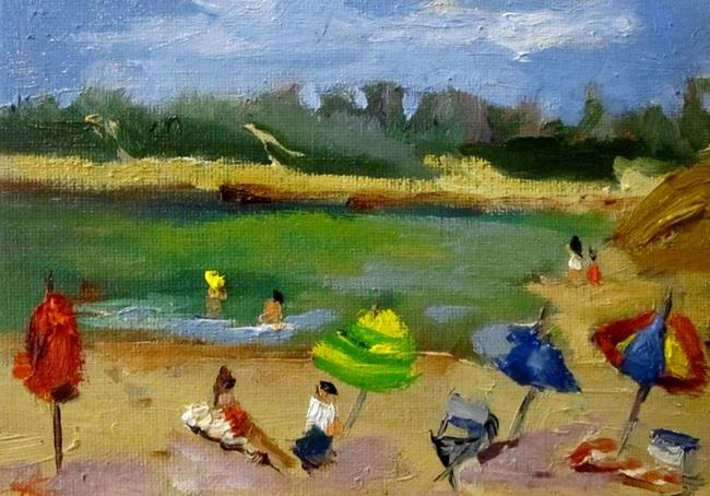 Art: Beach Day-SOLD by Artist Delilah Smith