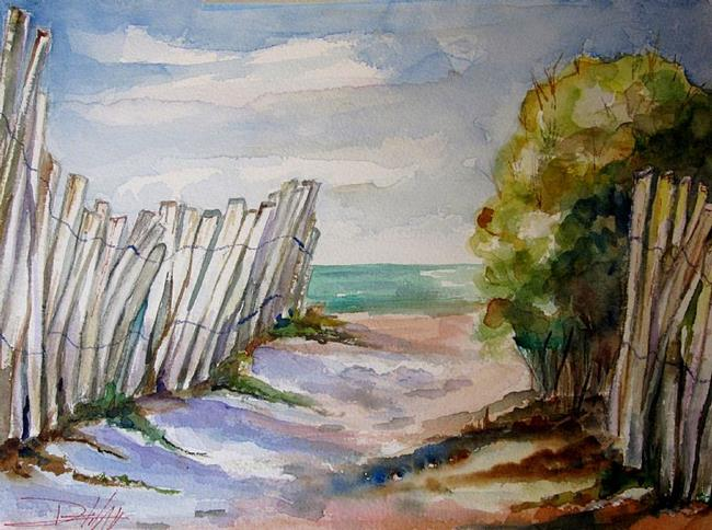 Art: Beach Fence-sold by Artist Delilah Smith