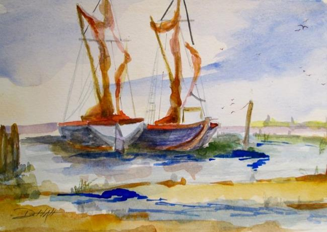 Art: The Sea Waits by Artist Delilah Smith