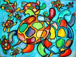 Art: Turtle Family by Artist Chris Jeanguenat