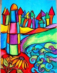 Art: Lighthouse #3 by Artist Chris Jeanguenat