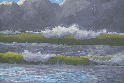 Art: Dark Clouds Over The Sea by Artist Carol Thompson