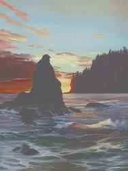 Art: Eagle Rock by Artist Carol Thompson