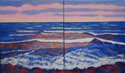Art: Sky Blue Pink #2 by Artist Virginia Ann Zuelsdorf
