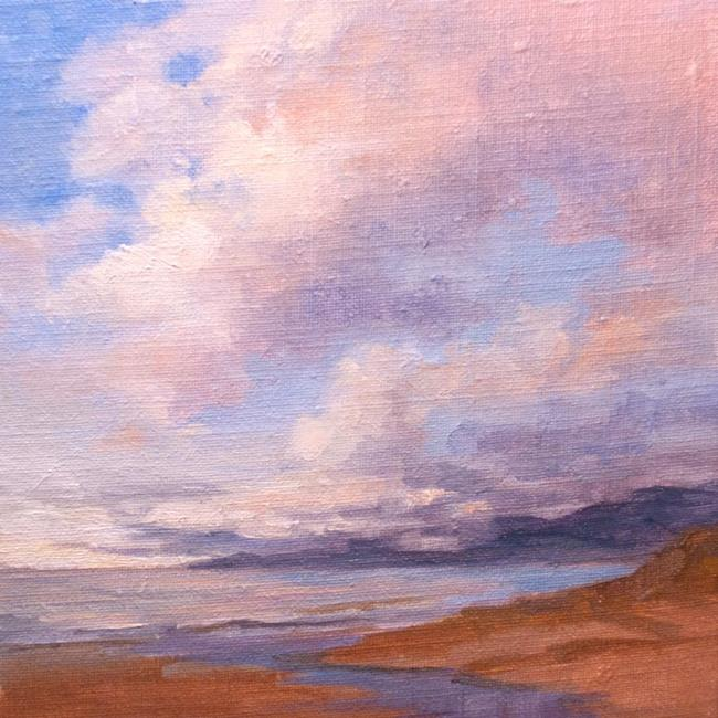 Art: Malibu memories - California seascape oil painting by Karen Winters by Artist Karen Winters