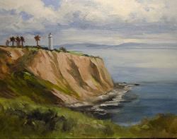 Art: pt vicente lighthouse K Winters by Artist Karen Winters