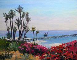 Art: View from Casa Romantica, San Clemente oil painting SOLD by Artist Karen Winters