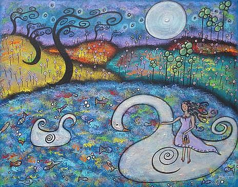 Art: My Swan Dream by Artist Juli Cady Ryan