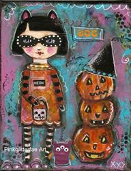 Art: Trick or Treat by Artist Betty Stoumbos