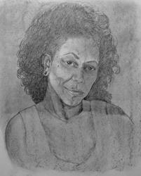 Art: Selva Solimar...self portrait by Artist Selva  Solimar