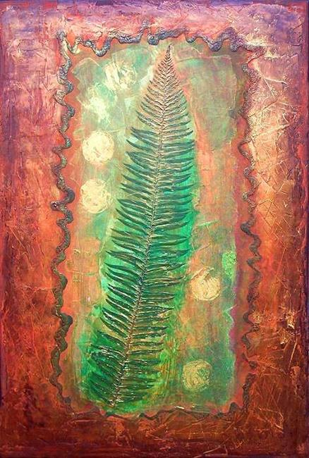Art: Sword Fern by Artist Christine Wasankari