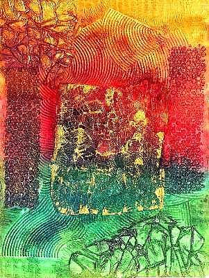Art: Ancient Impressions ~ 7 by Artist Christine Wasankari