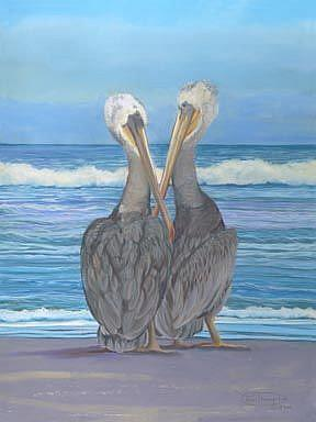 Art: Beach Buddies by Artist Carol Thompson