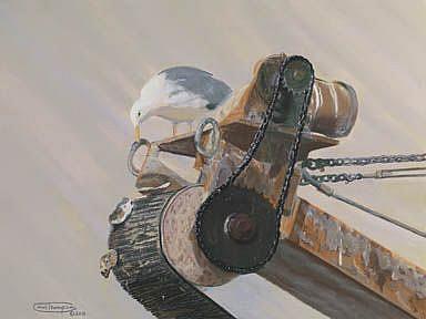 Art: Oyster Watch by Artist Carol Thompson