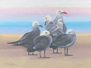 Art: Heermann's On The Sand by Artist Carol Thompson