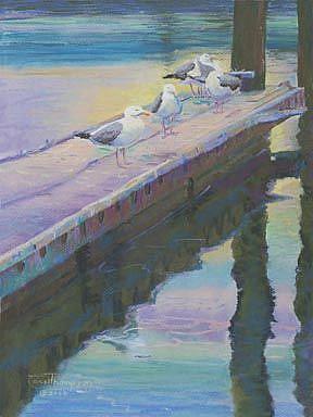 Art: Morning Gulls by Artist Carol Thompson