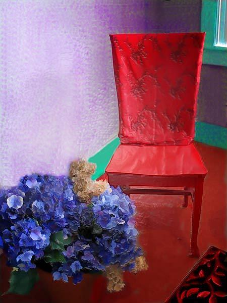Art: The Red Chair by Artist Carolyn Schiffhouer