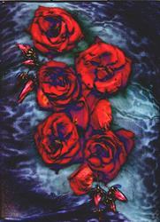 Art: Gothic Roses by Artist Carolyn Schiffhouer