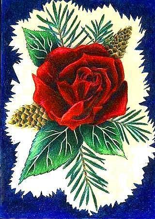 Art: Christmas Rose by Artist Christine Wasankari