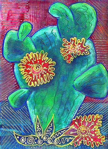 Art: One of Those Big Cactus by Artist Christine Wasankari