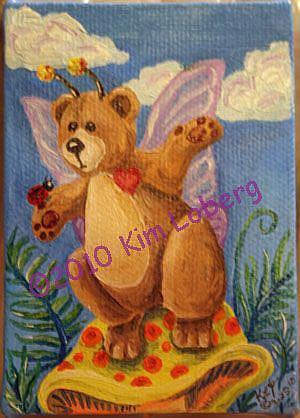 Art: Shroom Bear Fly and Friends #2 by Artist Kim Loberg