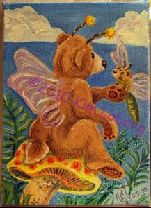 Detail Image for art 'Shroom Bear Fly & Friends #1 - SOLD