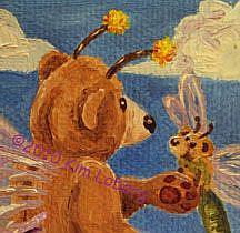 Detail Image for art 'Shroom Bear Fly & Friends #1 - SOLD
