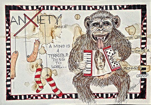 Art: Anxiety's Monkey by Artist Alma Lee