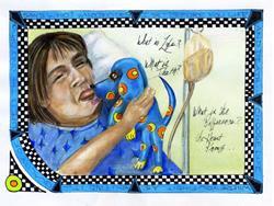 Art: Noreen, sketchbook journal entry by Alma Lee by Artist Alma Lee