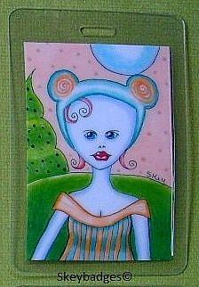 Art: October Art Badge 3 by Artist Sherry Key