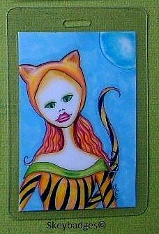 Art: October Art Badge 6 by Artist Sherry Key