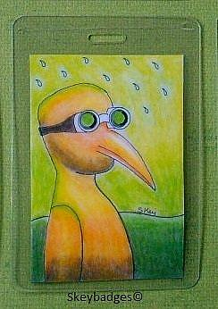 Art: October Art Badge 5 by Artist Sherry Key