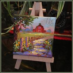 Art: The Barn Down the Road - Sold by Artist Patricia  Lee Christensen