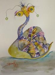 Art: Long Neck Snail by Artist Delilah Smith