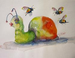 Art: Snail and Bee's by Artist Delilah Smith