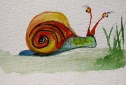 Art: Explorer Snail by Artist Delilah Smith